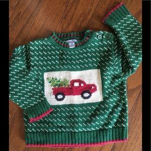 Christmas Tree Truck Sweater
